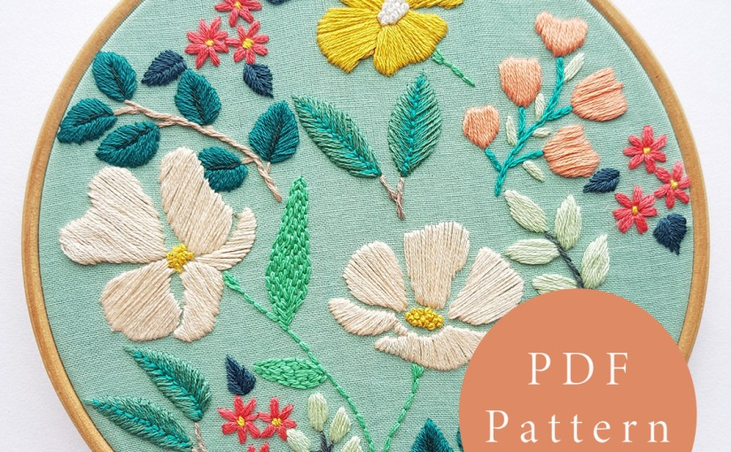 Summer Blooms EmbroideryPattern