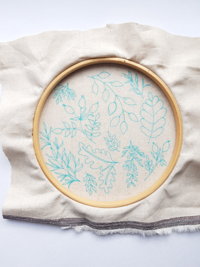 embroidery pattern transfer tutorial 3