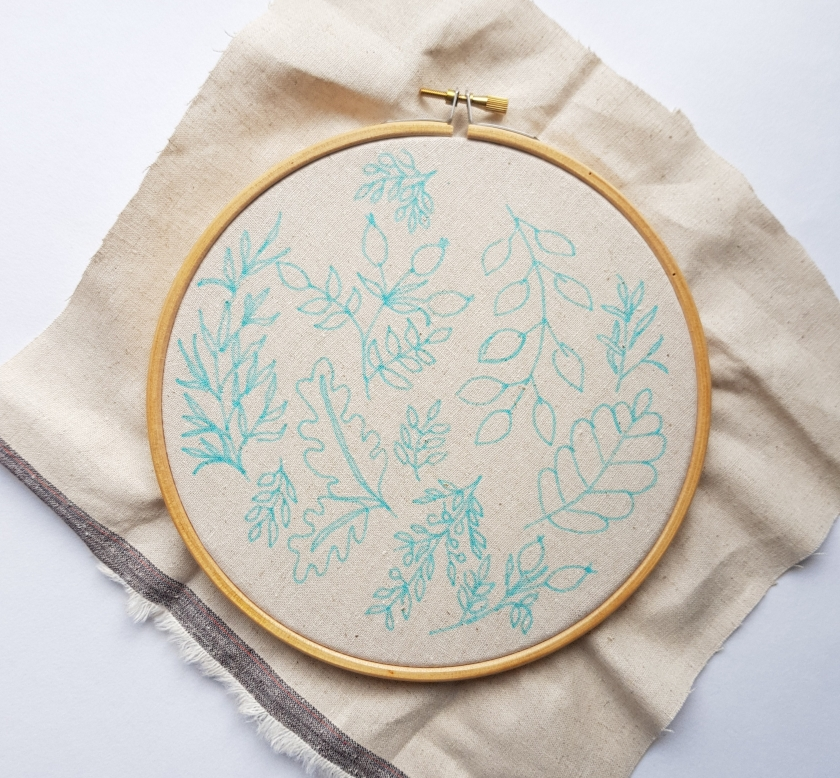 Embroidery pattern transfer to fabric tutorial